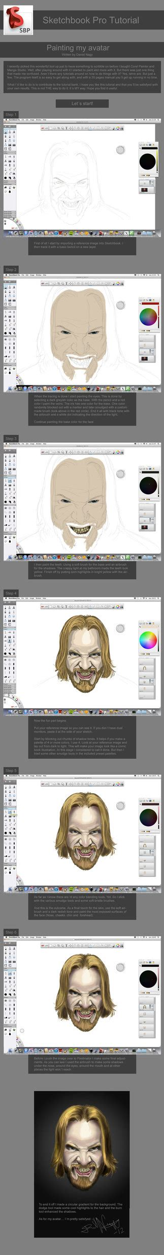 sketchbook pro painting tutorial sketchbook pro tutorial on painting a by danielbnagy