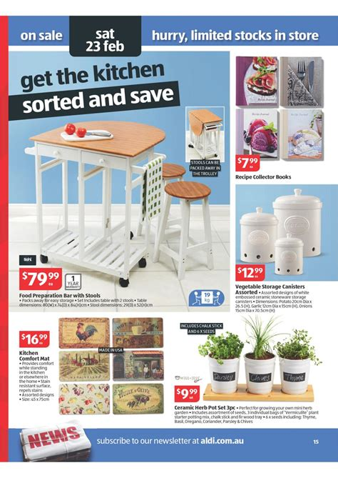 aldi bar stools aldi catalogue special buys wk 8 2013 page 15