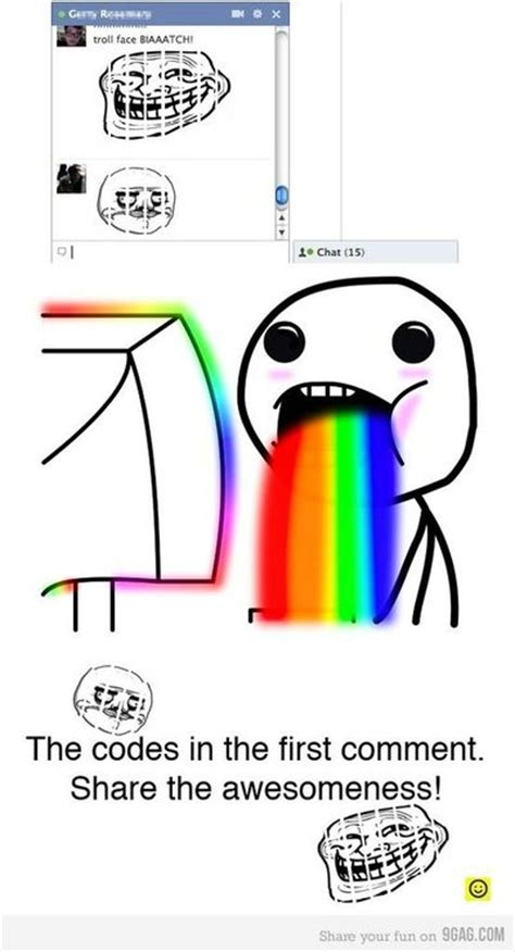Facebook Chat Meme Faces - troll face and many more for fb chat internet memes