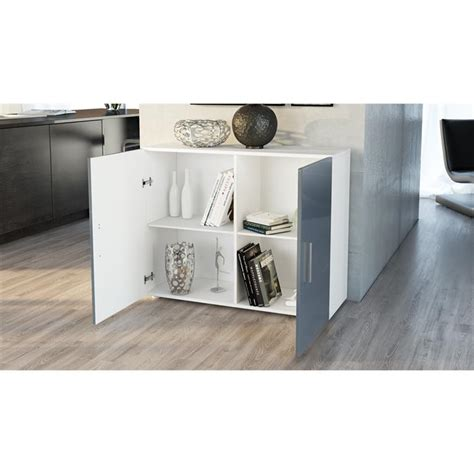 Kommode Offen by Cabinet Sideboard Cupboard Chest Buffet White High