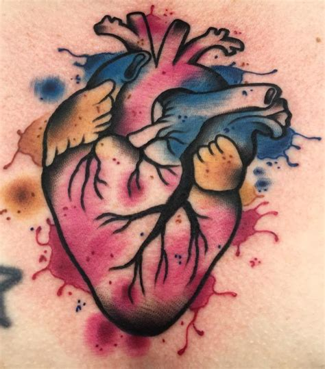 watercolor tattoos okc watercolor anatomical by lazlow tattoos