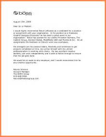 recommendation letter for boss best template collection