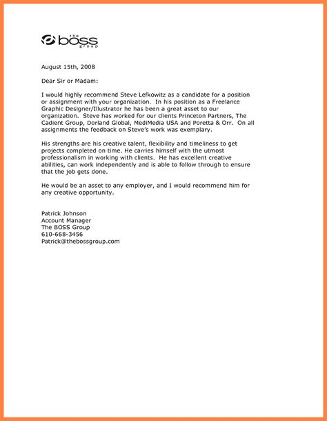 Reference Letter From Current Employer Recommendation Letter From Best Template Collection