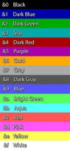 color text minecraft mundo minecraft colores en los carteles general