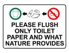 can you flush toilet paper on a boat the best quot don t flush your ton quot sign i have ever seen