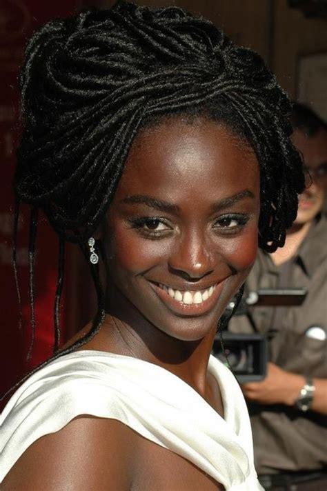 ebony french lady faux locs hair pinterest