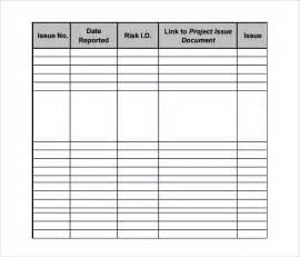 issue log template excel sle log template documents in pdf word excel
