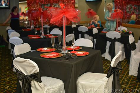 Thanksgiving Home Decorations Ideas red and black masquerade party michigan party planner