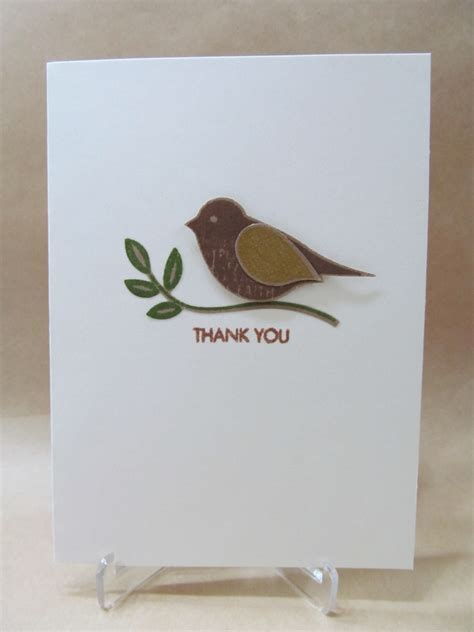 Cards Handmade For You - savvy handmade cards punched bird thank you card