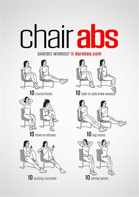 Desk Exercises For Abs by 25 Best Ideas About Chair Exercises On Ab