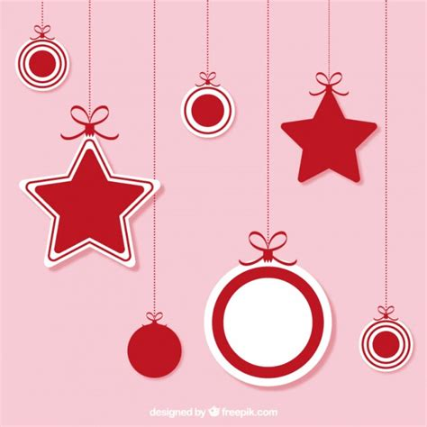 christmas hanging ornaments vector free download
