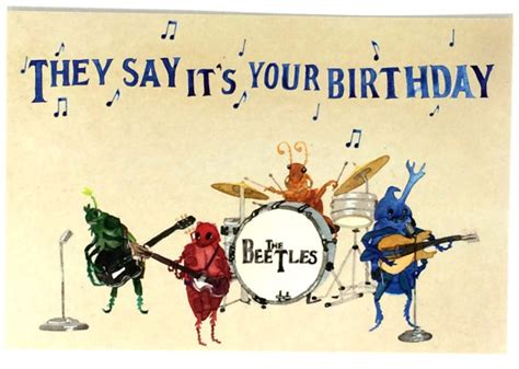 Birthday Wishes Musical Cards Pack Of 20 Funny Beatles Happy Birthday Postcards Twenty