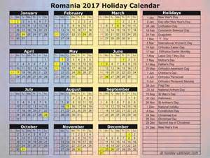 Calendar 2018 Romana Romania 2017 2018 Calendar