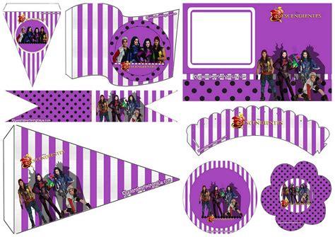 printable descendants banner descendants free printable mini kit oh my fiesta in