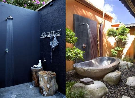 Clotheslines For Small Backyards by Outside Shower Ideas Homesfeed