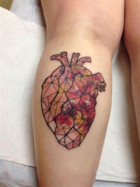 mind blowing heart tattoos  leg