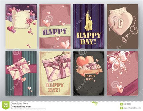 Happy Day Set background happy day stock vector image of happy color 56345841