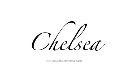 chelsea tattoo designs chelsea name designs