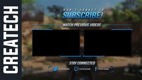 Wondershare Filmora Outro Template 1 Gaming Outro Fully Editable Free Download Youtube Outros Templates