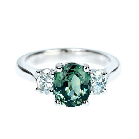 green sapphire 3 538ct suchy green sapphire three platinum