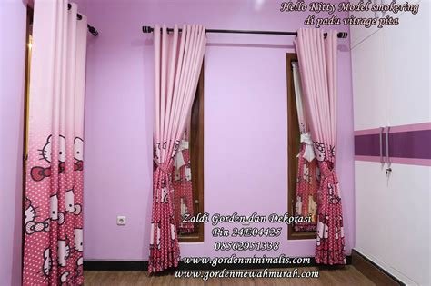 Karpet Warna Ungu gorden hello untuk kamar anak model pita dipadu gorden smokering model gorden rumah