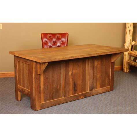barn wood mission desk amish crafted furniture