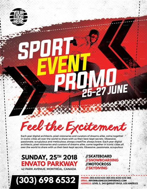 Sport Event Promo Flyer By Inddesigner Graphicriver Event Promo Template Free