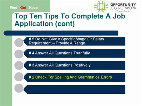 five tips for filling out a job application live in canada