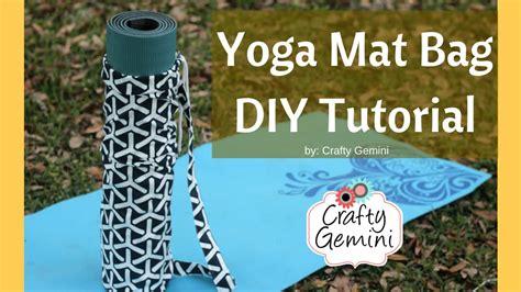 tutorial for yoga mat bag yoga mat bag diy sewing tutorial video