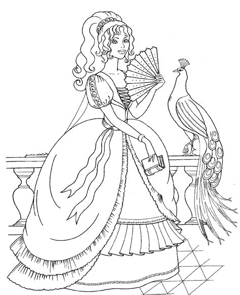Disney Princess And Animals Coloring Pages To Kids Disney Princess Coloring Pages