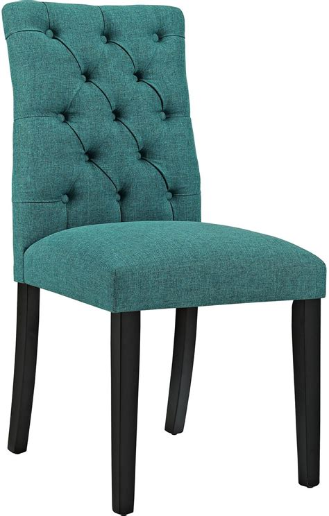 Duchess Teal Upholstered Dining Chair From Renegade Teal Upholstered Dining Chairs