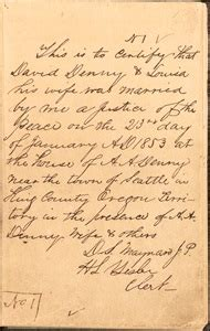 King County Marriage Records King County Marriage Records 1853 Present King County