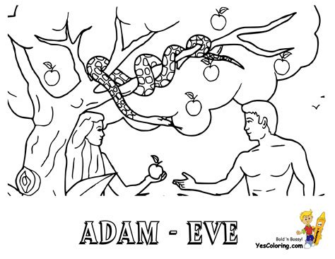 adam and eve coloring coloring pages