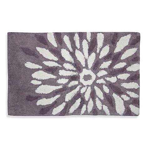 Buy Lacey Purple Flower Power Bath Rug From Bed Bath Beyond Buy Bathroom Rugs