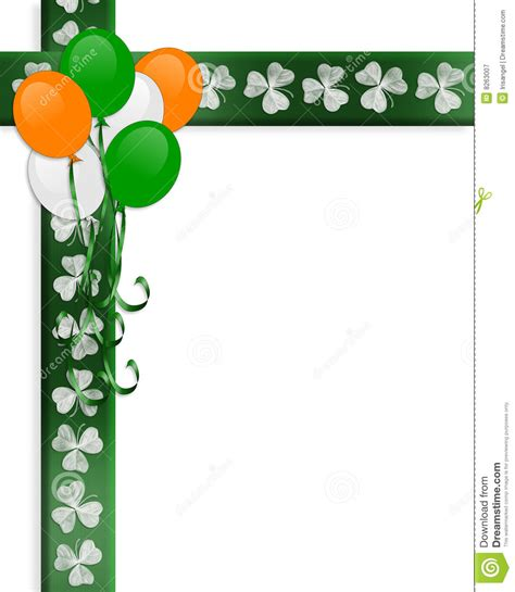 st pattys day border balloons stock illustration