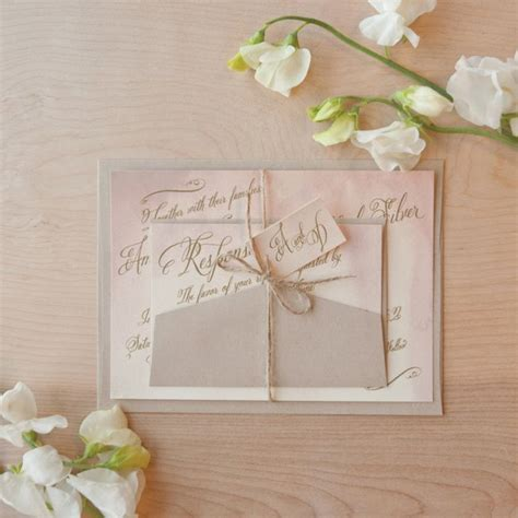 Handmade Wedding Stationary - 15 gorgeous watercolor wedding invitations onewed