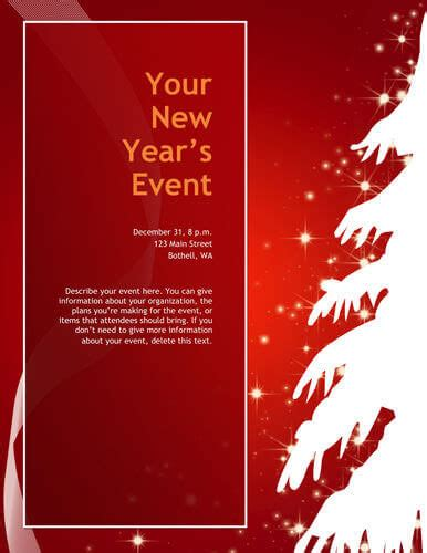 search results for free printable christmas party flyer