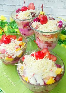 resep salad buah keju enak  sederhana cookpad