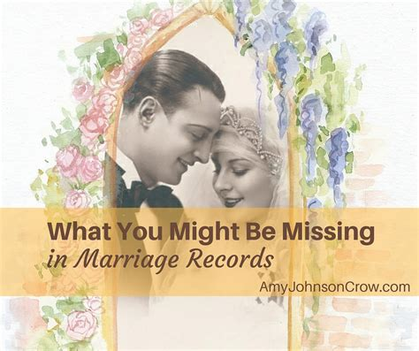 What Is A Marriage Record What You Might Be Missing In Marriage Records Johnson