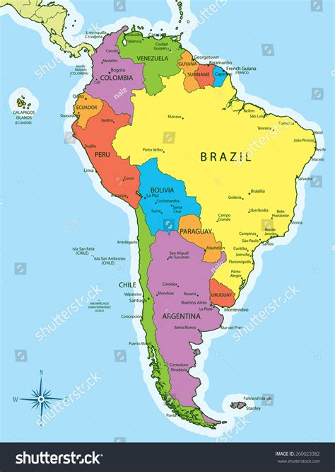 american countries map south america map countries and capitals grahamdennis me