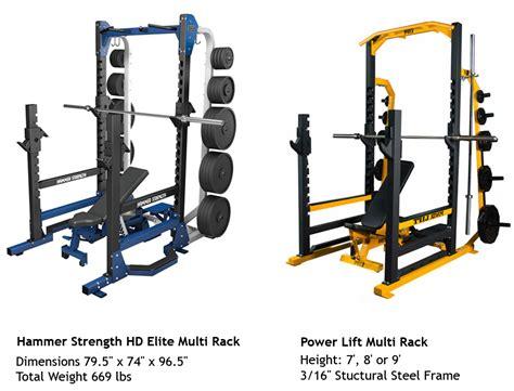 Hammer Strength Power Racks by Multi Racks Hammer Strength Vs Power Lift Bodybuilding