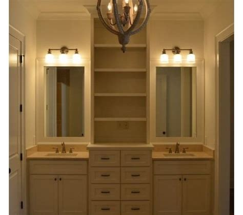 Bathroom Vanity Storage Tower Tower In Center Of Bath Vanity Bathroom Storage And Vanities Gigi S New House