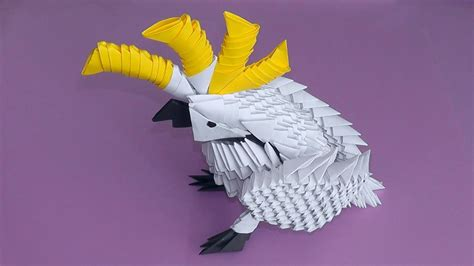 3d Origami Birds - 3d origami parrot origami 3d gifts