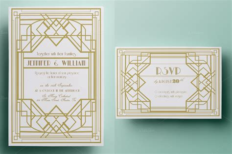 deco wedding invitations templates deco wedding invitation and rsvp invitation
