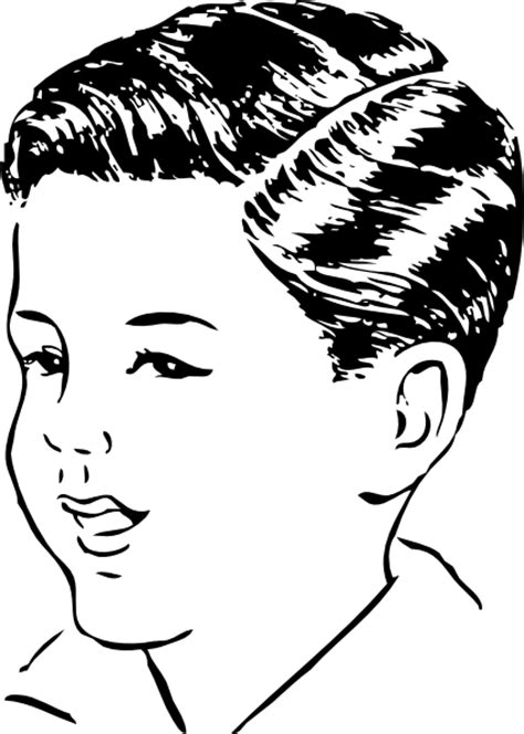 Medium Haircut With Side Part clip art (109017) Free SVG