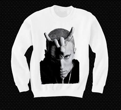 eminem zip eminem sweatshirt sweater shirt t shirt pop culture devil