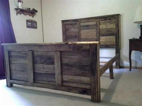 headboards from pallets queen size pallet headboard and footboard with frame diy