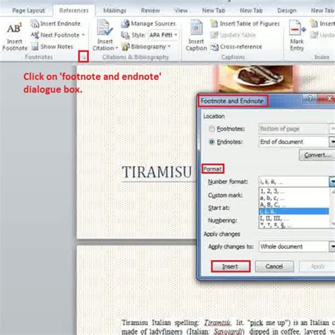 format footnotes in word 2010 how to create footnotes and endnotes in ms word 2010 howtech