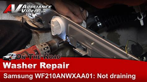 washer drains into washer diagnostic repair will not drain or go
