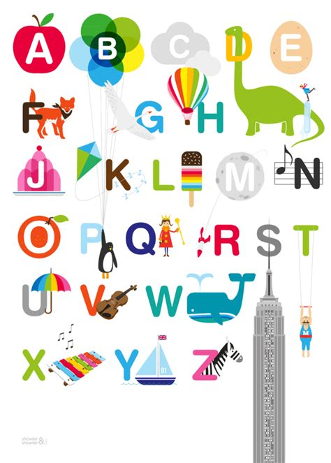 pattern of writing poster 392 illustrated alphabet print the illustrated abc
